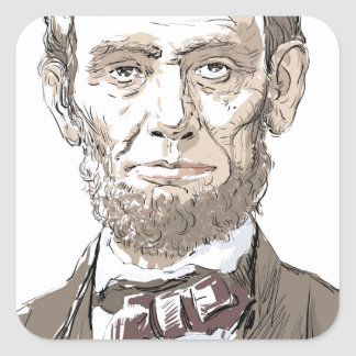 Abraham Lincoln Vierkant Stickers