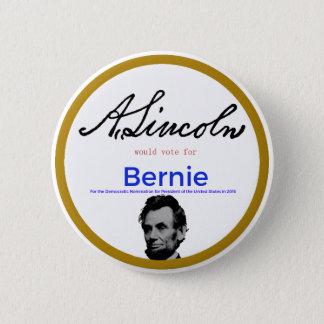Abraham Lincoln voor Bernie Sanders Ronde Button 5,7 Cm