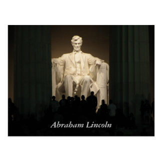 Abraham Lincoln, Washington gelijkstroom Briefkaart