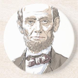 Abraham Lincoln Zandsteen Onderzetter