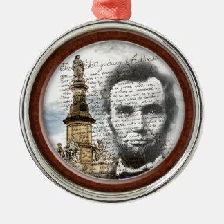 Abraham Lincoln Zilverkleurig Rond Ornament