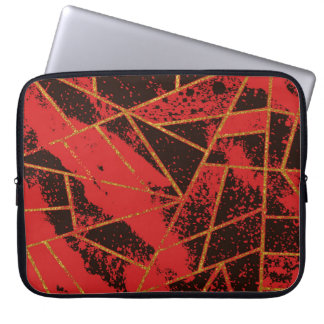 Abstract #942 Rood Laptop Sleeve
