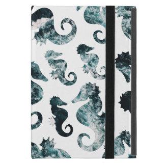 Abstract aqua seahorses patroon iPad mini hoesje