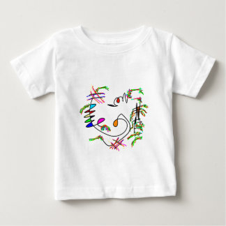 abstract art. baby t shirts