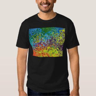 abstract artistiek kleurrijk ontwerp shirts