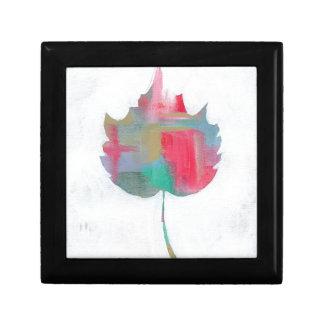 Abstract blad 2 decoratiedoosje