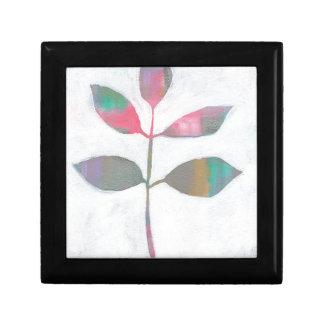 Abstract blad decoratiedoosje