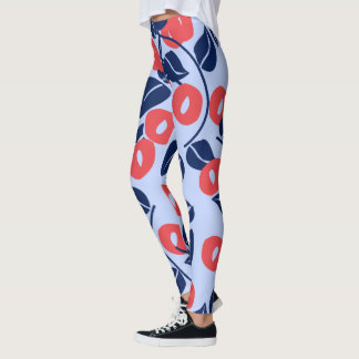 abstract blad een bloemdruk. leggings