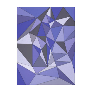 Abstract Blauw Canvas Print