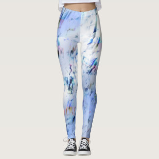 Abstract Blauw Leggings
