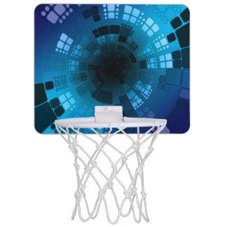 Abstract Blauw Mini Basketbalring