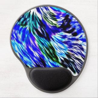 Abstract Blauwgroen Wit Paars Patroon Gel Muismat