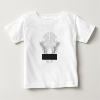 Abstract draag Schedel Baby T Shirts