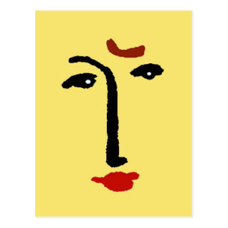 Abstract Face In Yellow