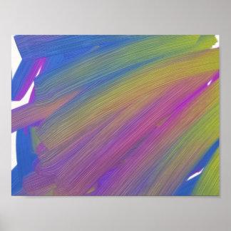 Abstract fijn kunstposter, olie poster