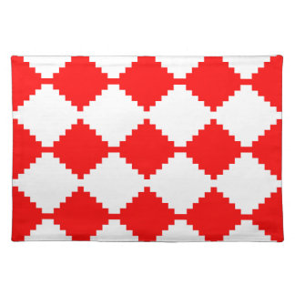 Abstract geometrisch patroon - rood en wit placemat