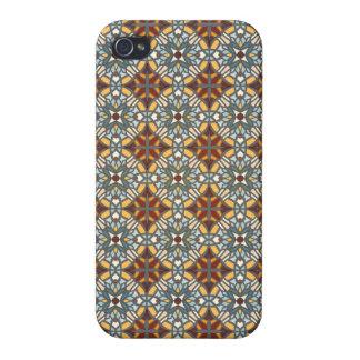 Abstract geometrisch retro naadloos patroon iPhone 4/4S hoesjes