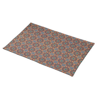 Abstract geometrisch retro naadloos patroon placemat