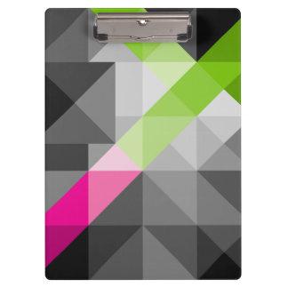 Abstract geometrisch trillend kleurenKlembord Klembord