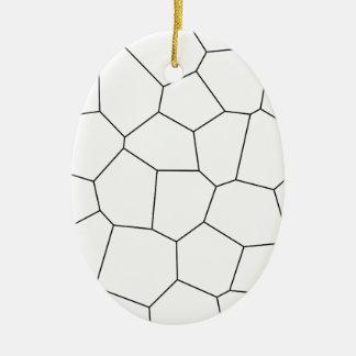 Abstract geometrisch zwart-wit patroon -. keramisch ovaal ornament