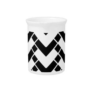 Abstract geometrisch zwart-wit patroon -. pitcher