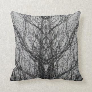 Abstract grijs wit modern de kunsthoofdkussen van sierkussen