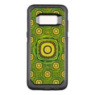 Abstract Groen en Geel Shell zoals Ontwerp OtterBox Commuter Samsung Galaxy S8 Hoesje
