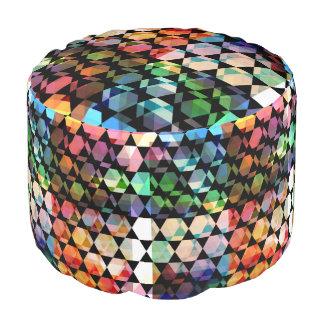 Abstract Hexagon Grafisch Ontwerp Poef