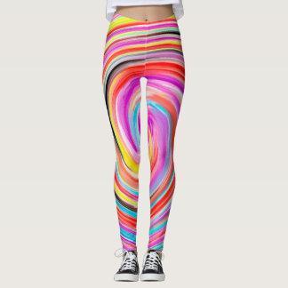 Abstract Kleurrijk Fractal Patroon #4 Leggings