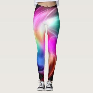Abstract Kleurrijk Fractal Patroon Leggings