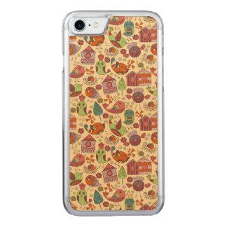 Abstract kleurrijk hand getrokken Carved iPhone 8/7 hoesje