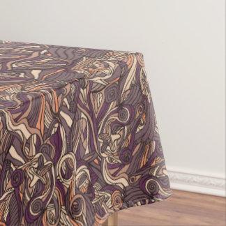 Abstract kleurrijk hand getrokken krullend tafelkleed