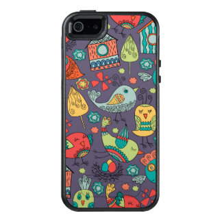 Abstract kleurrijk hand getrokken OtterBox iPhone 5/5s/SE hoesje