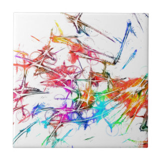Abstract Kleurrijk Ontwerp Tegeltje Vierkant Small