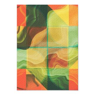 Abstract kunstwerk 12,7x17,8 uitnodiging kaart