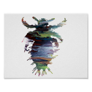 Abstract luissilhouet poster