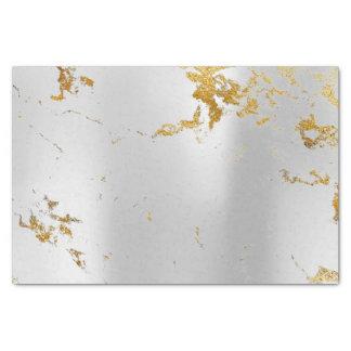 Abstract Minimaal Zilveren Grijs Metaal Marmeren Tissuepapier