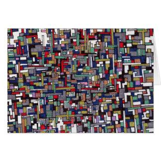Abstract Ontwerp:  Abstracte Fractal van de Pop Briefkaarten 0