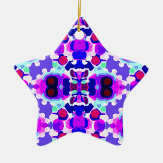 Abstract patroon keramisch ster ornament