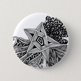 Abstract sterontwerp ronde button 5,7 cm