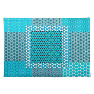 Abstract Turkoois Patroon Placemat