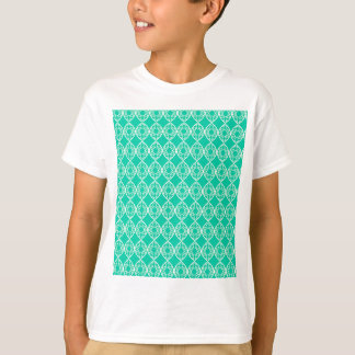 Abstract turkoois t shirt
