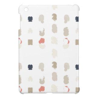 Abstract vormenpatroon in pastelkleuren 3 iPad mini cases