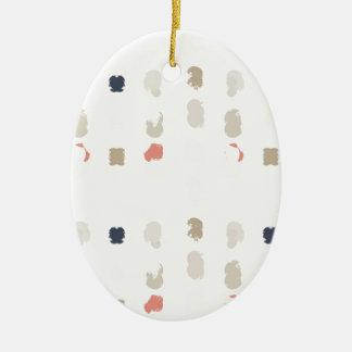 Abstract vormenpatroon in pastelkleuren 3 keramisch ovaal ornament