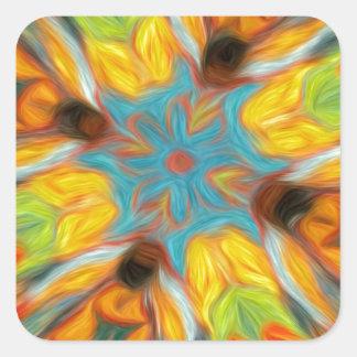 Abstract Zuidwestelijk Ontwerp Vierkante Sticker