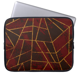 Abstracte #943 Donkerrood Computer Sleeve