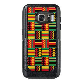Abstracte Afrikaanse Rode Geel van het Patroon van OtterBox Samsung Galaxy S7 Hoesje