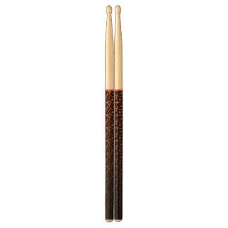 Abstracte black&orangetrommelstokken drumstokken