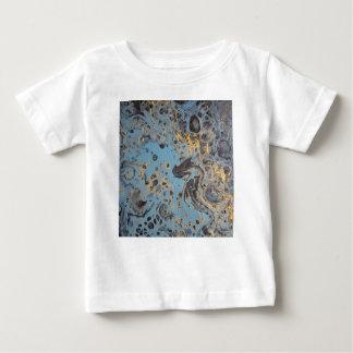 Abstracte Blauw & Gouden Baby T Shirts