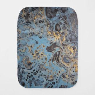 Abstracte Blauw & Gouden Monddoekje